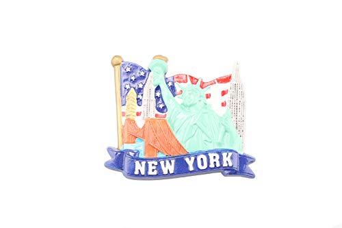 Americana Refrigerator Magnet American Flag United States Souvenirs Fridge Magnet, NYC Statue of Liberty, Flatiron