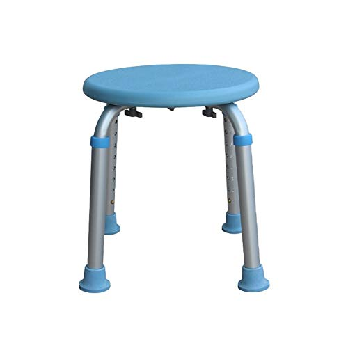 ZWH-Shower Bench Aluminum Alloy Shower Stool,8 Height Adjustable Bath Chair,Elderly/Pregnant/Disabled Anti-Slip Round Stool Shower Chair