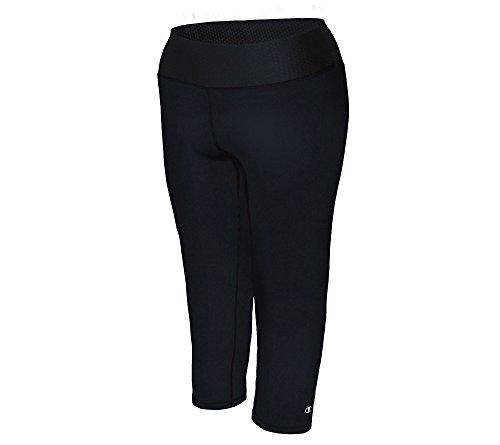 Champion Women's Plus-Size Absolute Capri, Black, 3X