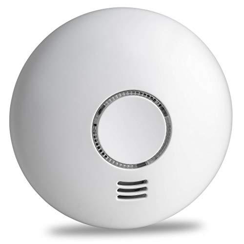 SEBSON Rauchwarnmelder Funk mit Hitzewarnmelder, DIN EN 14604 Zertifiziert, fotoelektrischer Rauchmelder vernetzbar