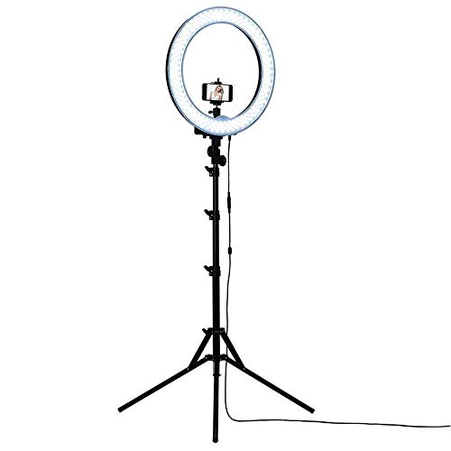 Smooni 10 Inches Big New LED Ring Light for Camera Smartphone to Capture Your Photo and Video at Tiktok, Musically and Other Phone's App with Tridop Stand