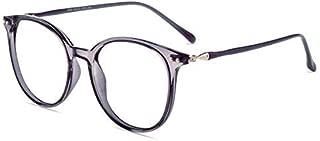 Firmoo - Chic Blue Light Blocking Glasses Unisex/Non-Prescription Round Retro Computer Glasses(Purple Clear Frame)