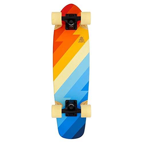 DSTREET Cruiser Beach Skateboard, uniseks, volwassenen, meerkleurig, 26 x 7 inch