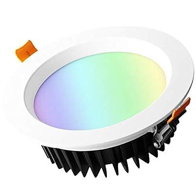 GLEDOPTO Downlight Recessed LED Light Smart RGB Bulbs Dimmable LED Ceiling Light
