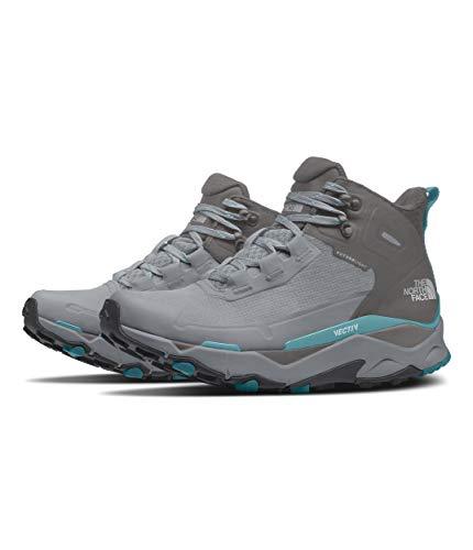 The North Face Vectiv Exploris Mid Futurelight Hiking Shoe - Women's Micro Chip Grey/Maui Blue 8.5