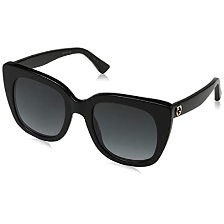Fashion Shopping Gucci GG0163S 001 Black GG0163S Square Sunglasses Lens Category 3 Size 51mm