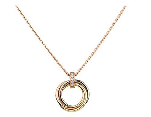 カルティエ TRINITY NECKLACE トリティ ネックレス (ホワイトゴールド、イエローゴールド、ピンクゴールド、ダイヤモンド B7058700)