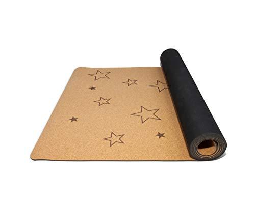 Secoroco Yogamatte Stars aus Kork für Kinder - rutschfest, vegan, nachhaltig und recycelbar - 122x61cm - Yoga...