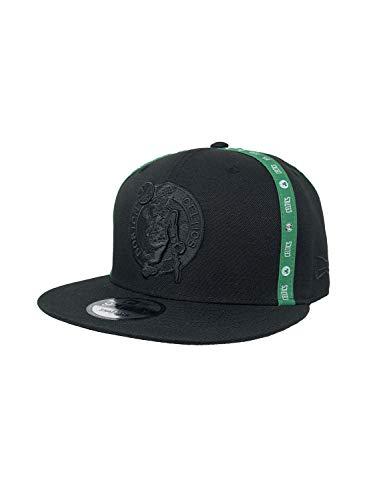 New Era Boston Celtics Adjustable Snapback Hat 9Fifty NBA Basketball Flat Bill Baseball Cap (One Size, Black X Factor)
