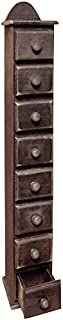 OHIO WHOLESALE, INC. CWI Gifts Spice Jewelry Box in Distressed Black Paint, 18