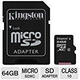 Professional Kingston 64GB Motorola Moto Z Force Droid Edition MicroSDXC Card with custom formatting and Standard SD