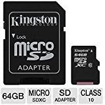 Professional Kingston 64GB Samsung Galaxy Tab E Lite 7.0 MicroSDXC Card with custom formatting and Standard SD Adapter! (Class 10, UHS-I)