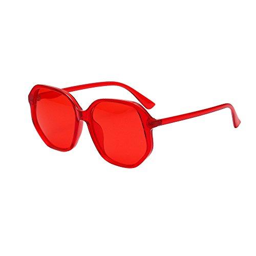 FRAUIT dames bonbonkleurige zonnebril Square Frame Shades zonnebril geïntegreerde UV-bril Retro Vintage Style Design Unisex bril