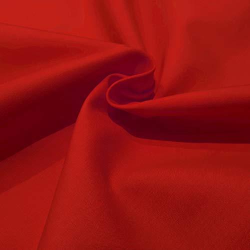 Popelin algodón poliéster colores (Rojo)