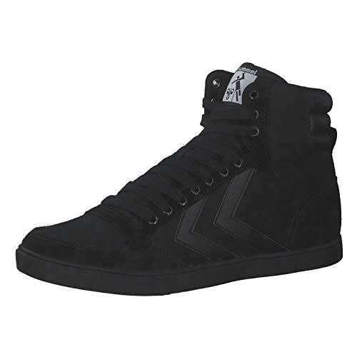 hummel Unisex SLIMMER STADIL TONAL HIGH Sneaker, Black, 37 EU