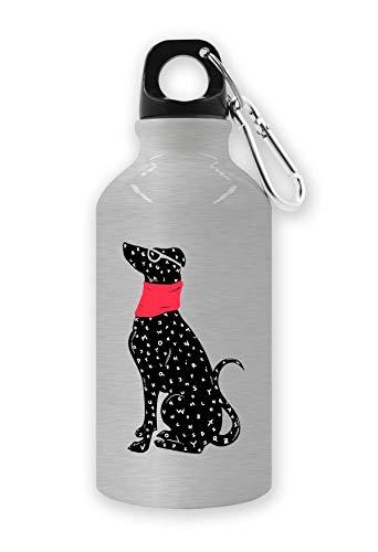 LukeTee ABC Black Dog Red Bandana Tourist waterfles