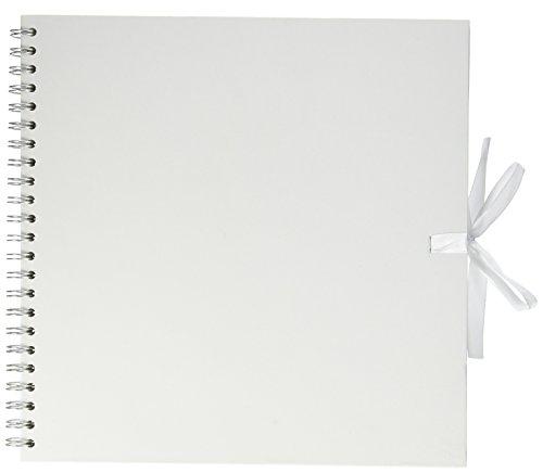 Artemio Scrapbooking-Album, Spiralbindung, 30 x 30 cm, Weiß