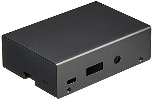 SilverStone SST-PI01 - Custodia per Raspberry Pi 3B+/3B/2B/1B+, in alluminio, con due dissipatori e cuscinetti termici, montaggio a parete