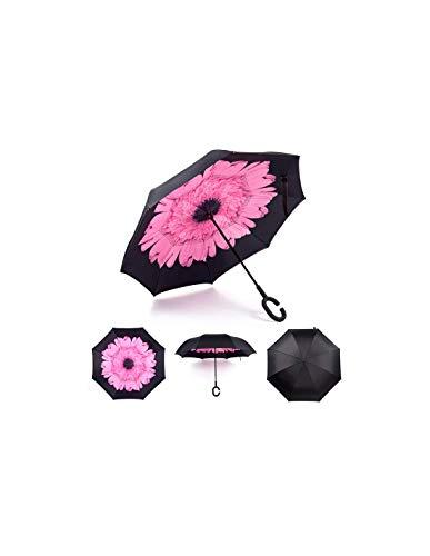 Wind- en regenscherm paraplu paraplu omkeerbare paraplu Car Inverted paraplu met C-vormige greep paraplu