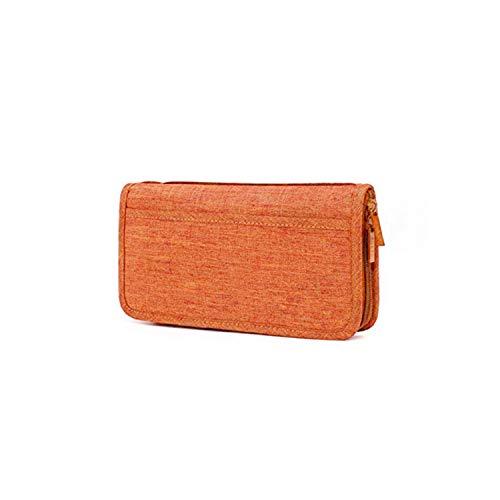 SURCHAR パスポートケース カードケース 多機能収納ポケット トラベルウォレット 大容量 海外旅行出張 便利グッズ 航空券 エアチケット パスポートカバー 名刺 クレジットカード入れ 男女兼用 オレンジ