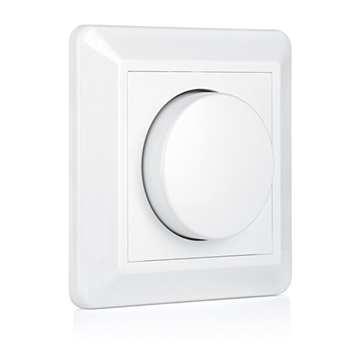 VIPMOON 220-240V 5-200W Push-On/Off Rotary LED Dimmer Switch EU-P3 para bombillas Led Luz de techo