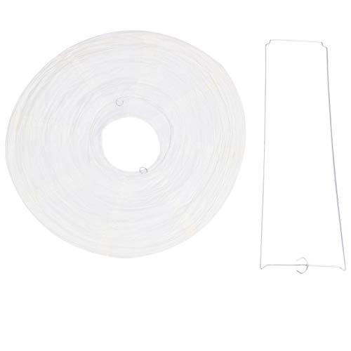 Heyb - Pantalla de lámpara de papel japonés chino para boda de fiesta, 40 cm, color blanco crema