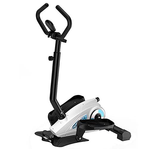 Mini Bicicleta elíptica con Entrenador Plegable con asa, Bicicleta estática para Interiores, máquina Ajustable, máquina para Subir escaleras con Monitor LCD