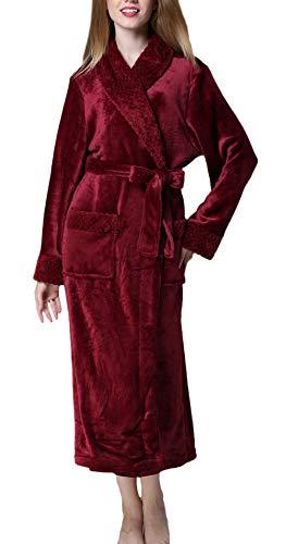 Saunamantel dames lange mouwen V-hals basic coral fleece unisex paar mode merk badjas herfst winter verdikte warme pyjama ochtendjas met riem