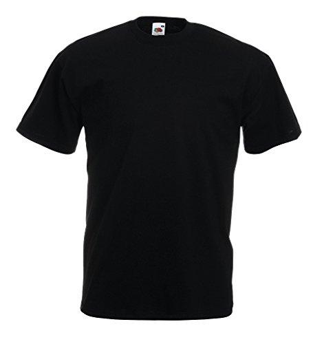Fruit of the Loom T-Shirt S-XXXL in verschiedenen Farben M,Schwarz
