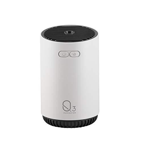 TOOGOO Humidificador de Aire Difusor Recargable USB Aroma Difusor de Aceite Esencial 320ML Humidificador de Batería Purificador de Aire del Coche Fabricante Gris