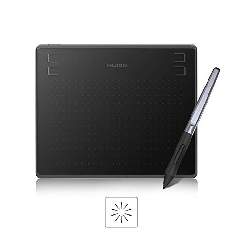 2019 HUION HS64 Drawing Tablet Android Support Digital Graphics Pen Tablet with Battery-Free Stylus 8192 Pressure Sensitivity 4 Express Keys-6.3x4inch