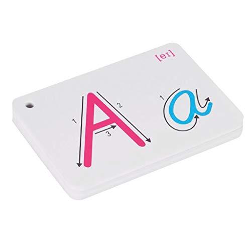 SimpleLife Frühes Lernen ABC Brief Englisch Alphabet Karte withRing Schnalle Handschriftliche Aussprache Frühe Pädagogische Spielzeug Kinder Kind Geschenk