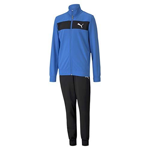 PUMA Jungen Poly Suit cl B Trainingsanzug, Palace Blue, 140
