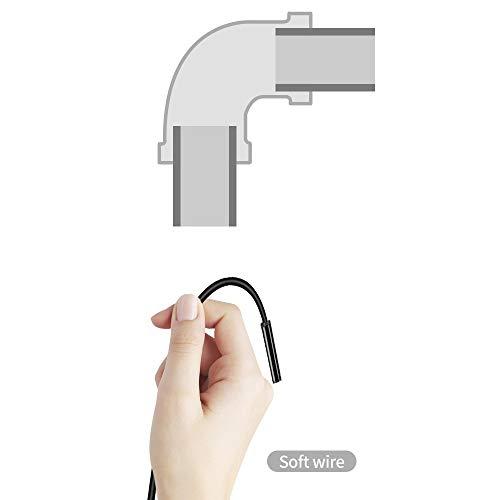 Endoscopio 7.0mm endoscopio cámara HD de tipo C Endoscopio USB con 6 LED 1/2 / 3,5 M duro cable suave a prueba de agua de Inspección endoscopio for Android para detector de tubería de alcantarillado,