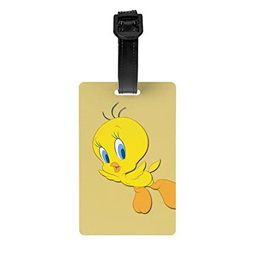 Tweety Etiquetas de equipaje para senderismo, maletas, dentificador, mochila para niños, cierre seguro, etiquetas de equipaje duraderas