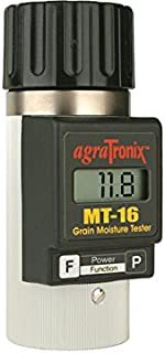 Agratronix MT-16 Portable Grain Moisture Tester with Digital Meter Display and 2 Pack 9v Batteries