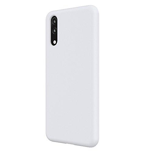 2Buyshop Compatible Huawei P20 Lite Hülle, Weiche Silikon Flexibel Huawei P20 Pro Schutzhülle Breathable Handyhülle Huawei P20 Anti-Kratzer Stoßfest P20 Lite Gehäuse (Weiß, P20 Lite)