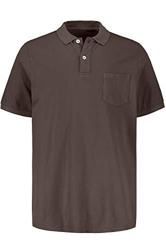 JP 1880 Herren große Größen Übergrößen Menswear L-8XL bis 7XL, Poloshirt, Basic, Piqué, Brusttasche, Halbarm, Taupe XXL 720073 32-XXL