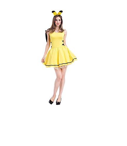 Top Totaal Zoete Pikachu Cosplay Meisje Kostuum