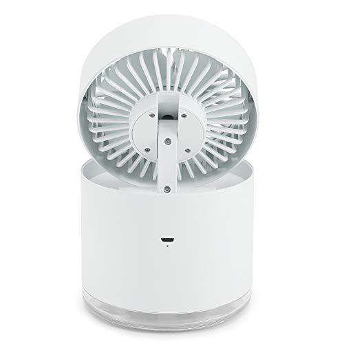 Mini Ventilador, USB Chargingx Ventilador de pulverización portátil Ajustable con Ventilador de enfriamiento, para Oficina, hogar, Dormitorio, Dormitorio(White)