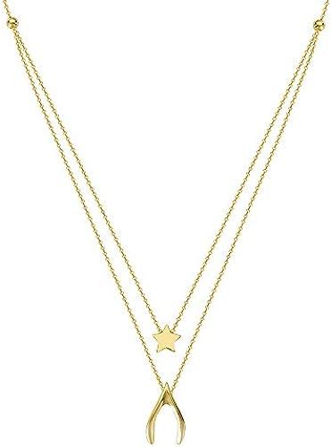 14  Gelb Gold Duo Wish Upon A Star verstellbar Halskette Spitze 46cm