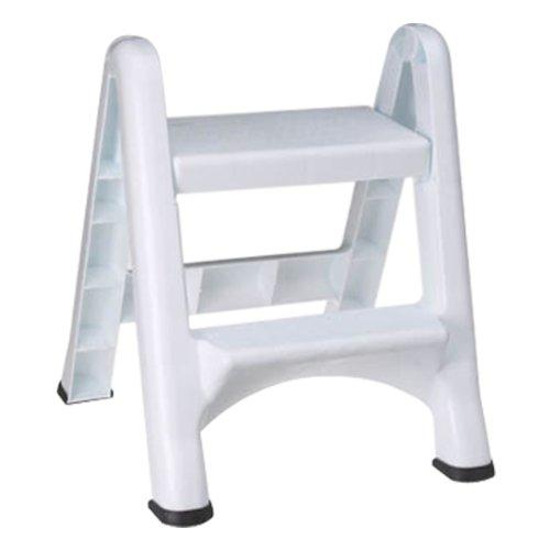 Rubbermaid 4209 EZ Step Folding Stool, 2-Step, White