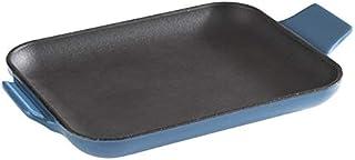 APS Cast Iron - Mini sartén de hierro fundido esmaltada, cuadrada, 16 x 13 x 2 cm, apilable, apta para horno, color azul