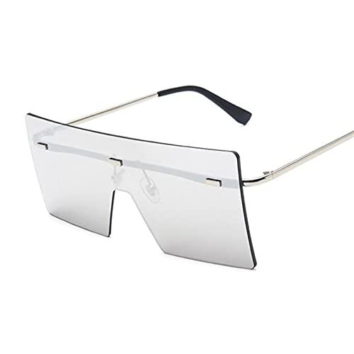 JIANCHEN Gafas de Sol Gafas de Sol cuadradas Damas de una Pieza Gafas de Sol de Gran tamaño Señoras Gafas para Mujer Lente de océano sin Adornos Sombras Grandes Oculos de Sol (Color : 14)