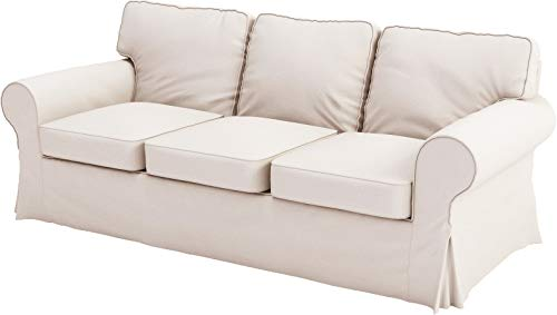 The Sofa Cover Replacement is Custom Made for IKEA Ektorp Three Seat Sofa. Cover Only! Ektorp Slipcover Replacement (3 Seat Sofa, Beige Polyester)