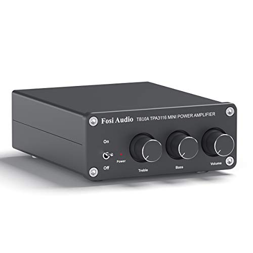 2 Channel Stereo Audio Amplifier Receiver Mini Hi-Fi Class D Integrated Amp 2.0CH for Home Speakers...