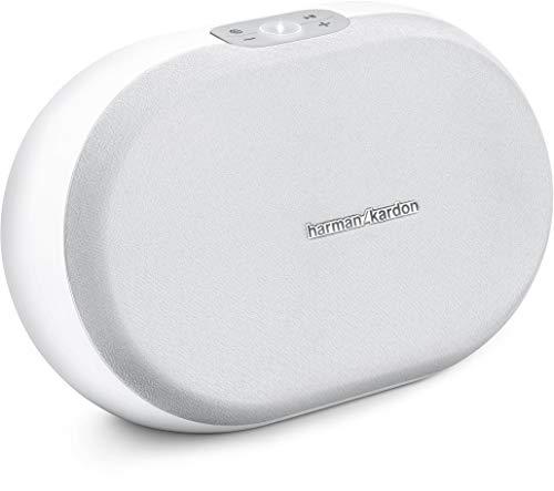 Harman/Kardon Omni 20+ Kabelloser HD-Lautsprecher mit Spotify Connect, Google Cast, Bluetooth und Firecast - Weiß