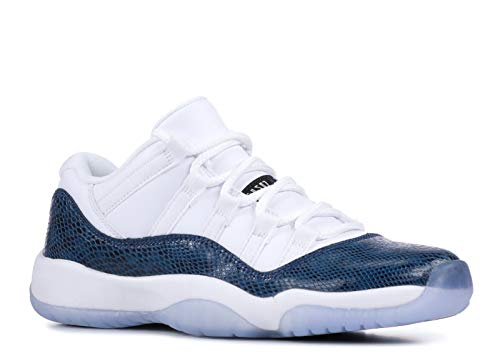 white and blue jordans - 7