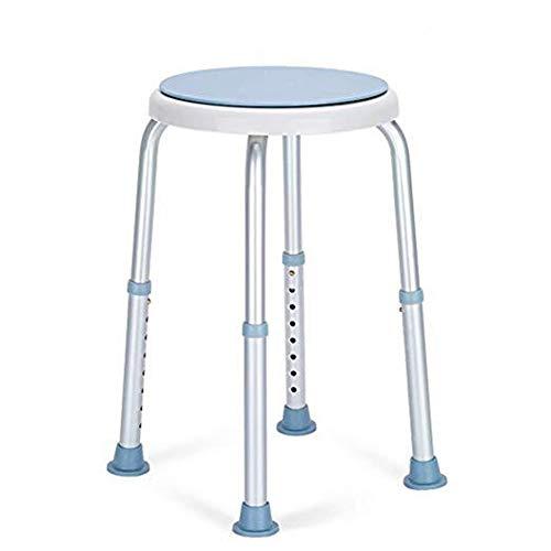 GYLJJ 360 graden roterende douchestoel, gereedschap gratis verstelbare douchestoel badstoel en ligbad zitbank met antislip rubberen tips voor veiligheid en stabiliteit