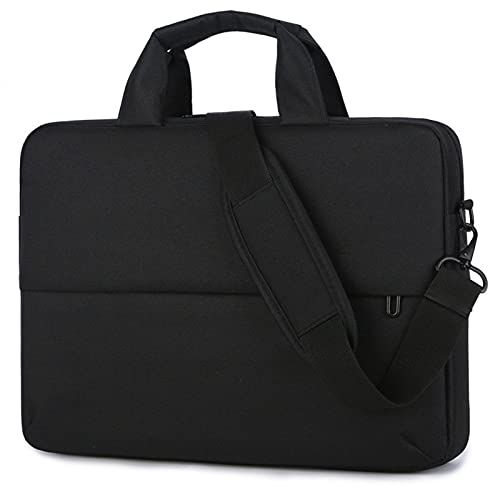 RZL PAD & TAB cases For Macbook Air Pro, Waterproof Casual Thicken Laptop Bags Strap Handbag Shoulder Portable Tablet Bag For Macbook Air Pro 13 14 15 15.6 Inch (Color : Black, Size : 15 inch)